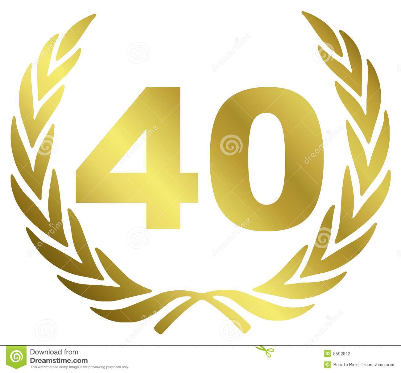 40 Anniversary Stock Photography - Image: 8592812