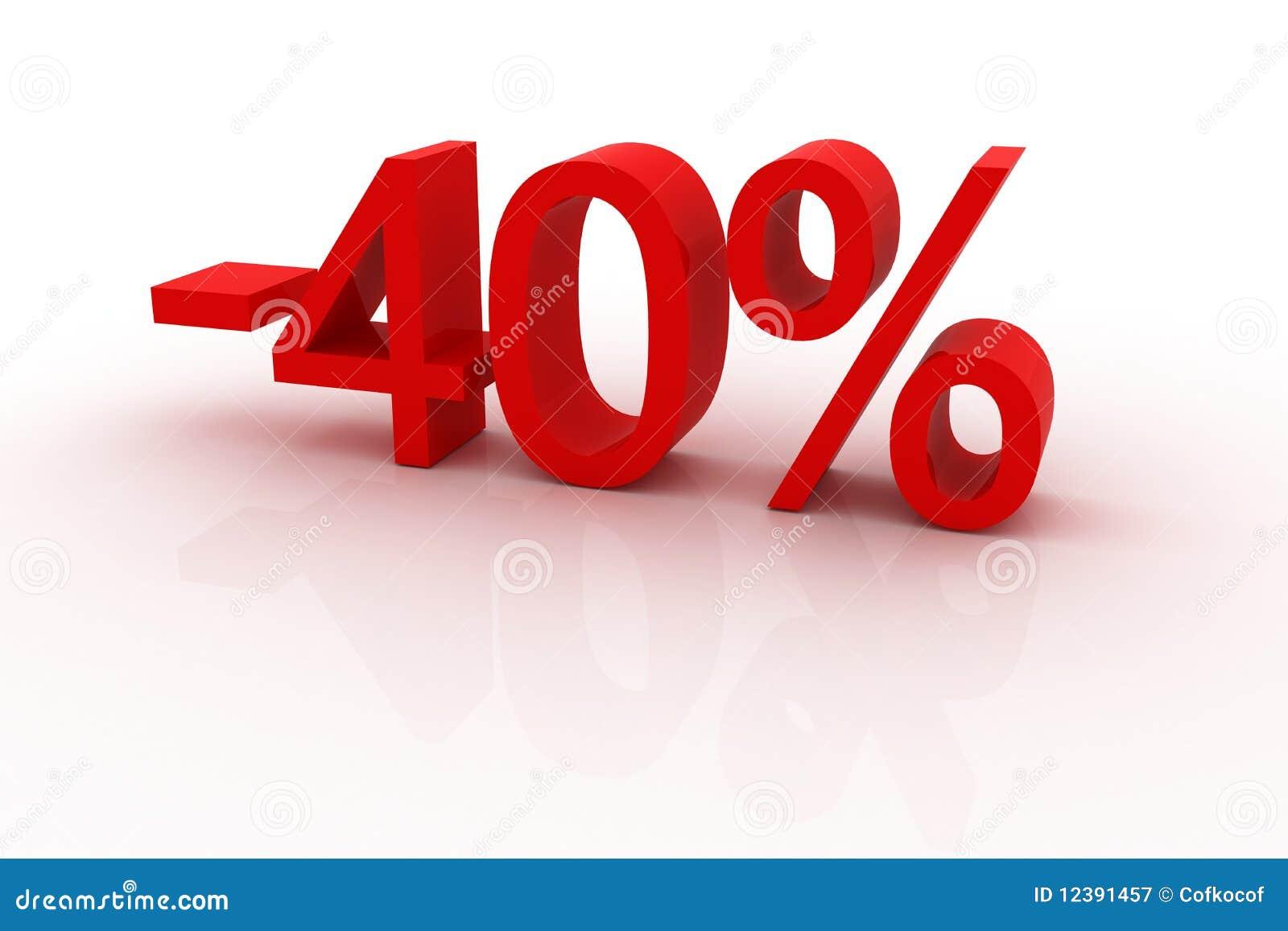 40 prozent rabatt lizenzfreie stockfotografie bild 12391457 for Boden 40 rabatt