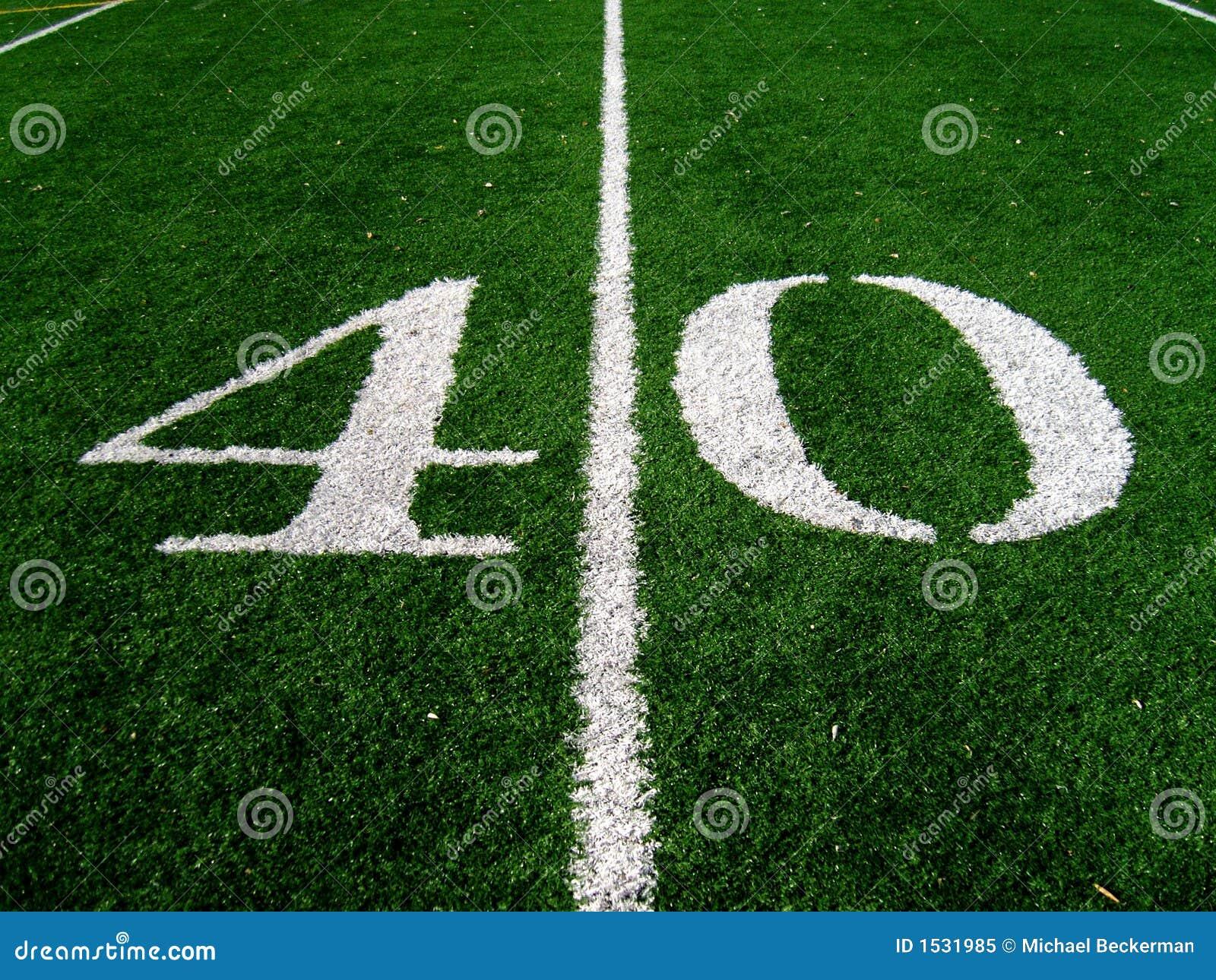 40 yard line royalty free stock photo image 1531985