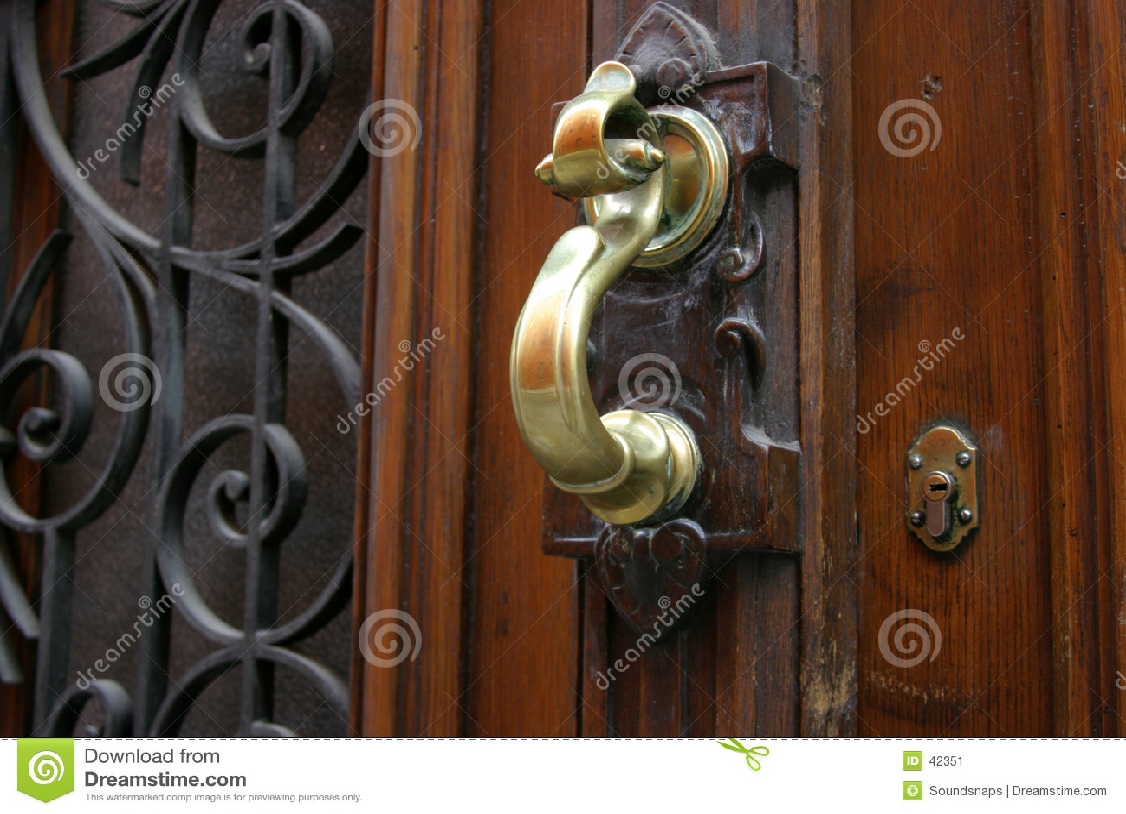 黄铜通道门环