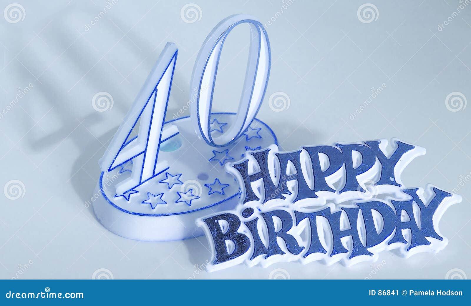 40ste Verjaardag Stock Afbeelding Afbeelding Bestaande Uit Blauw