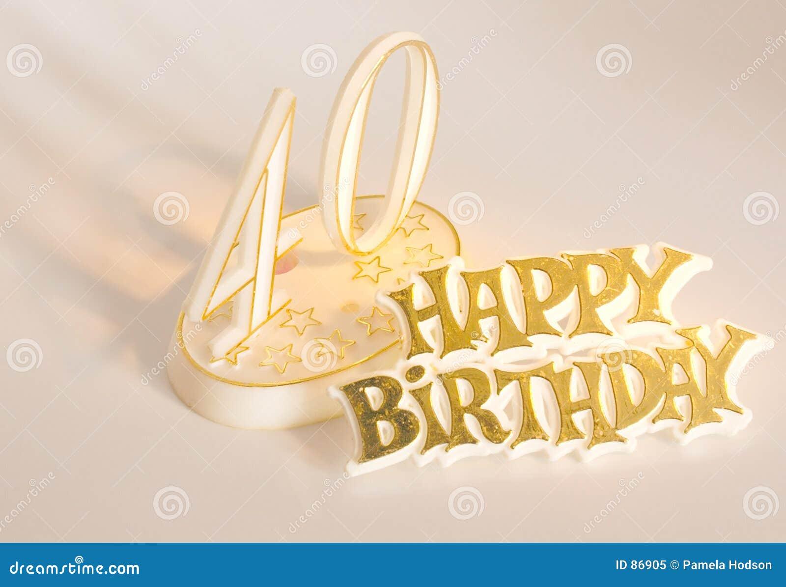 40ste Verjaardag Stock Afbeelding Afbeelding Bestaande Uit Goud 86905