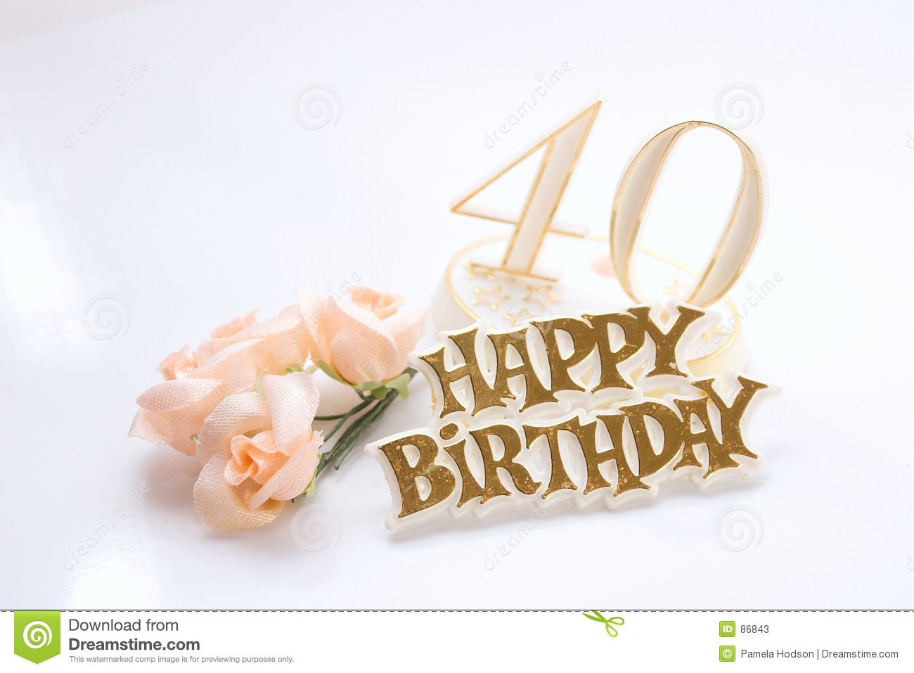 40th Birthday Stock Photos - Image: 86843