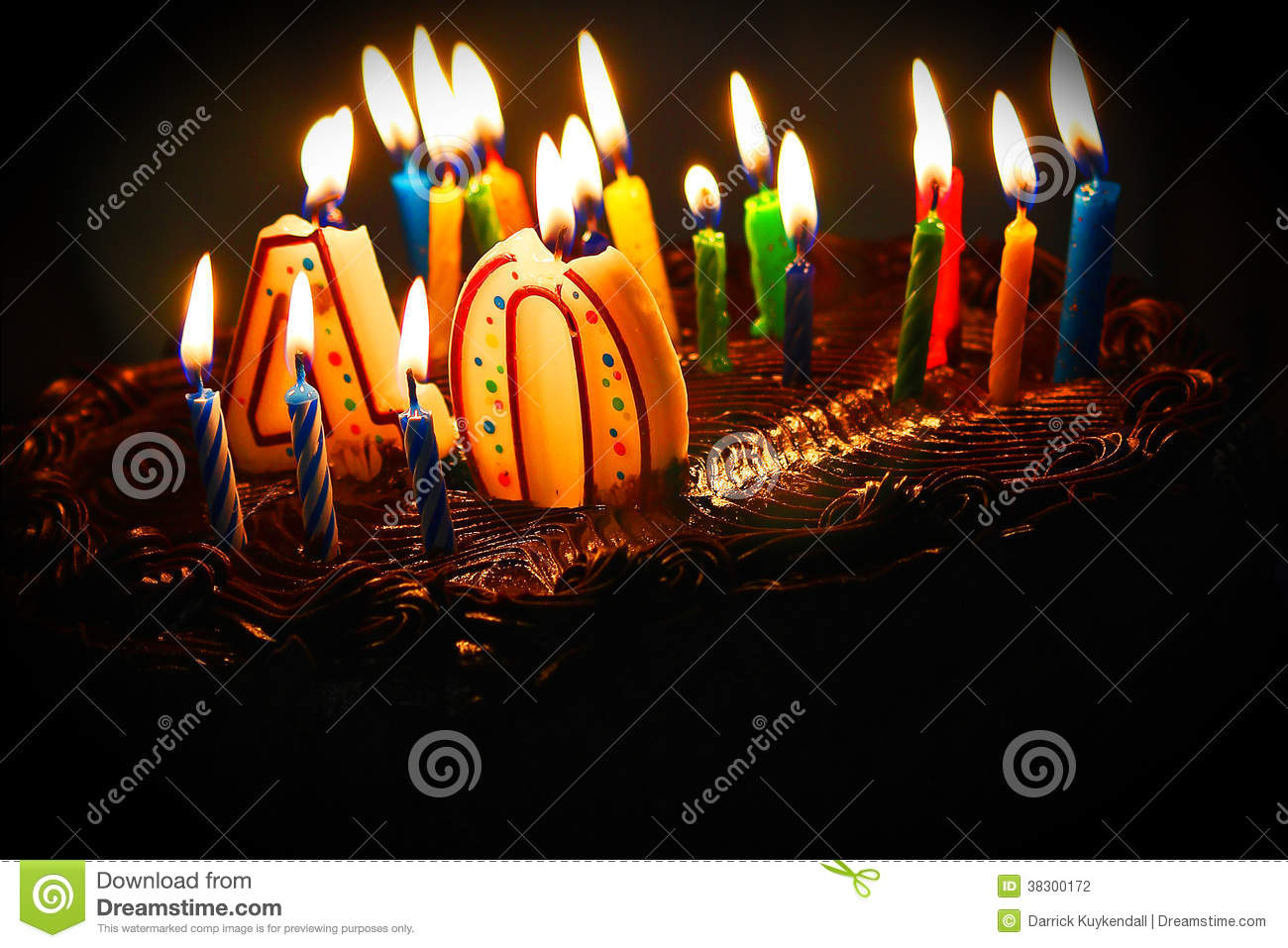 40th Birthday Cake Stock Photo Image Of Colors Birthday 38300172