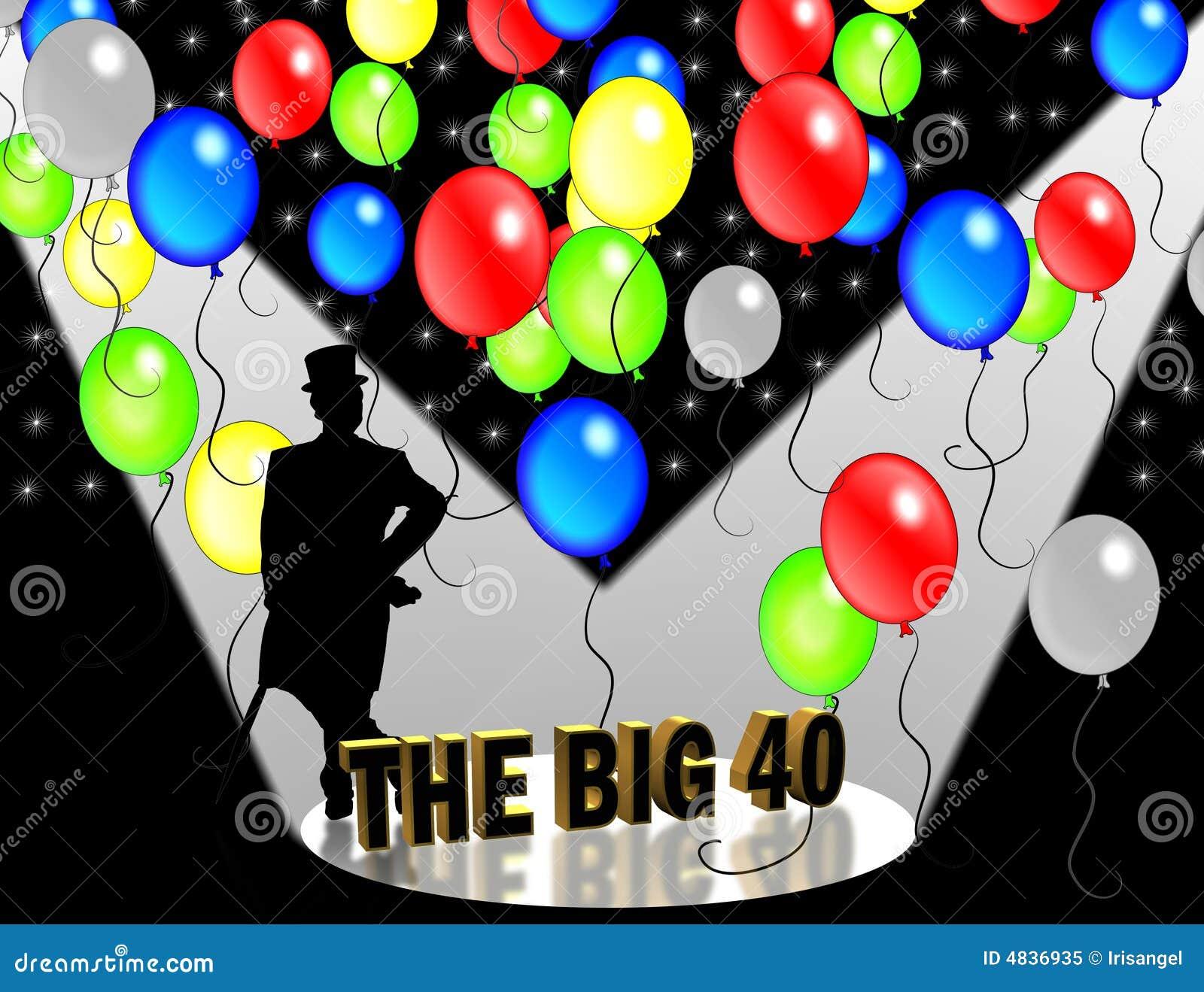 40thBirthday Party invitation