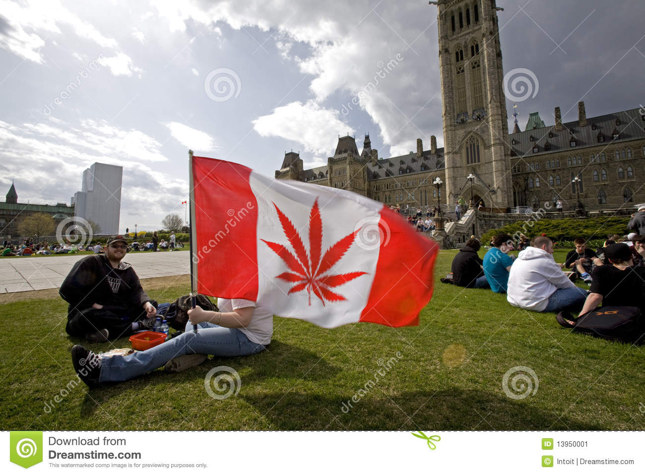 420 Parliament Hill - Marijuana Activists Editorial Photo
