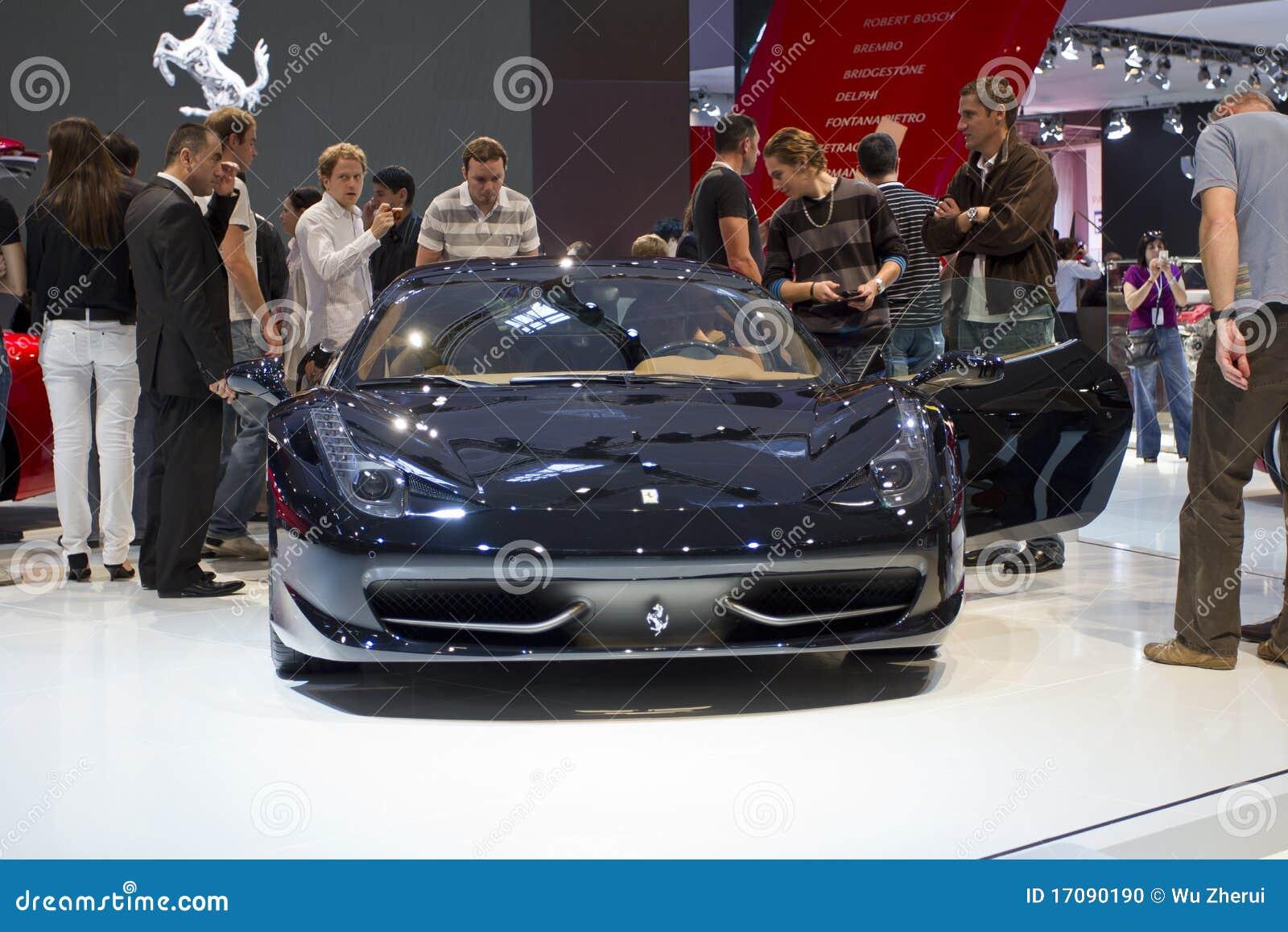 458 2010 выставок paris мотора ferrari gt Италии