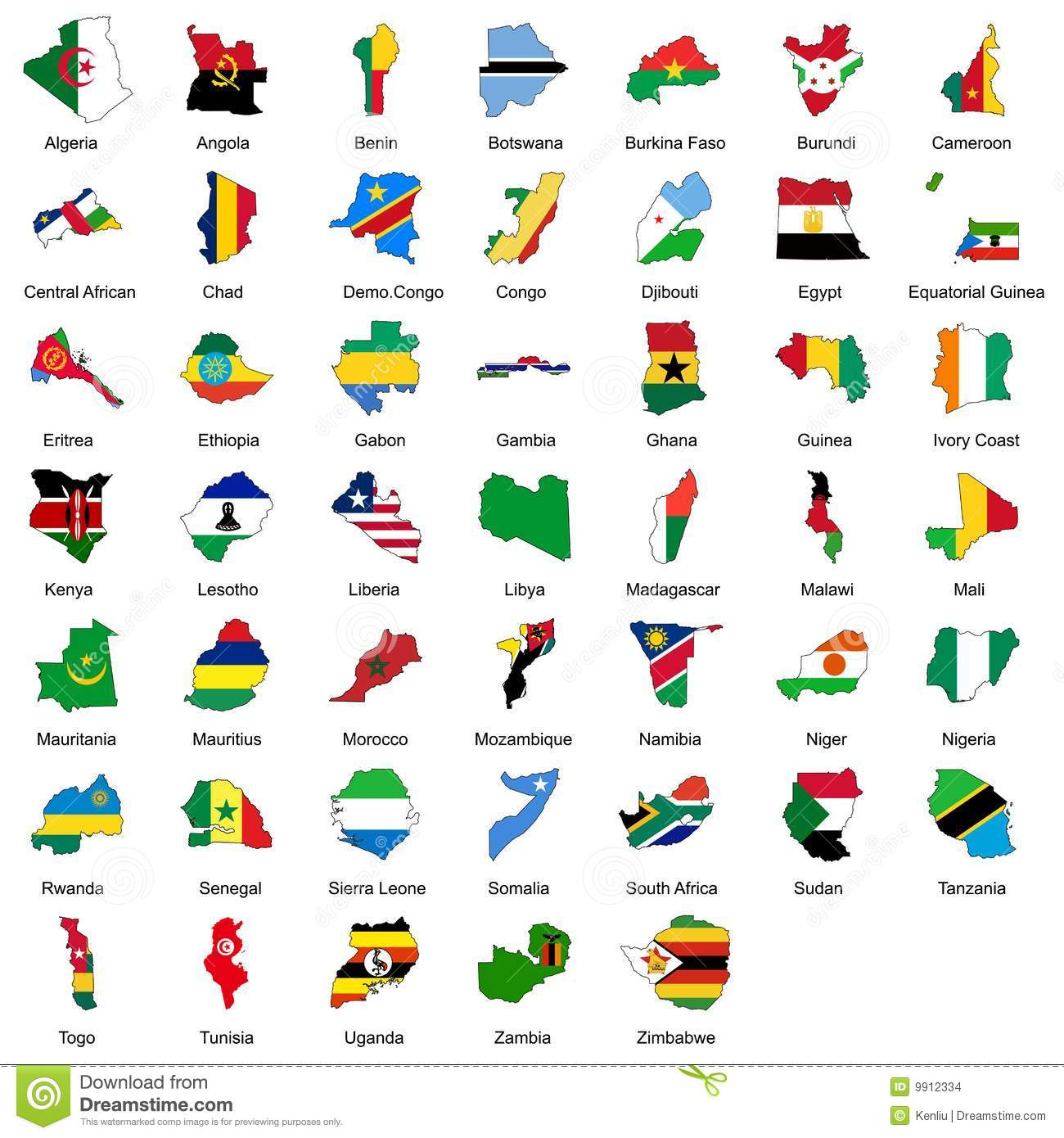 47 african country flags stock vector illustration of burkina 9912334