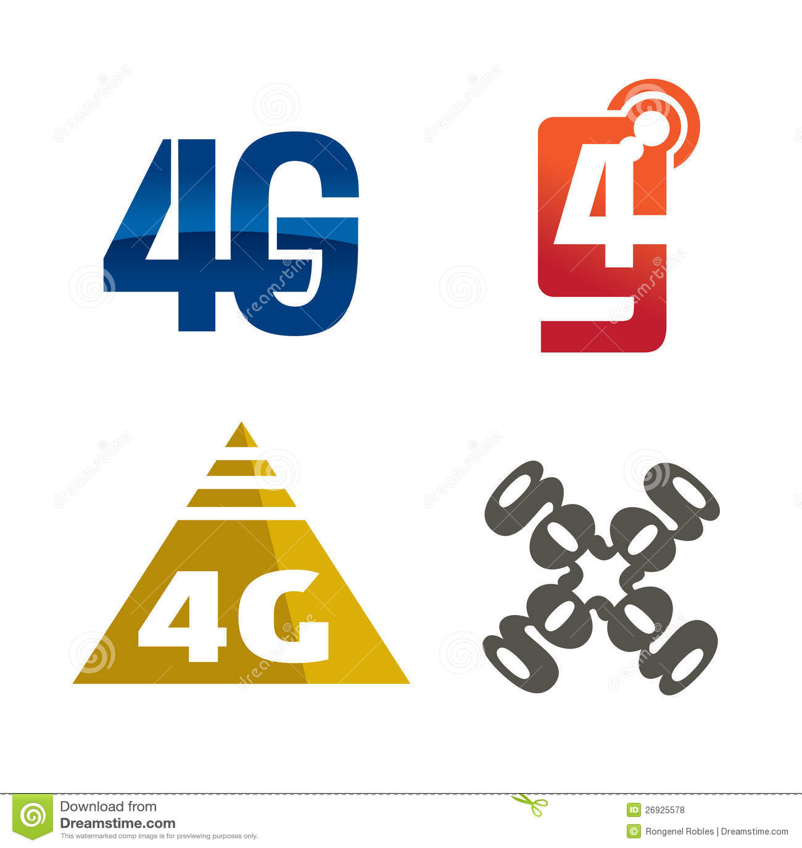 4g logo icon stock illustration image of generation