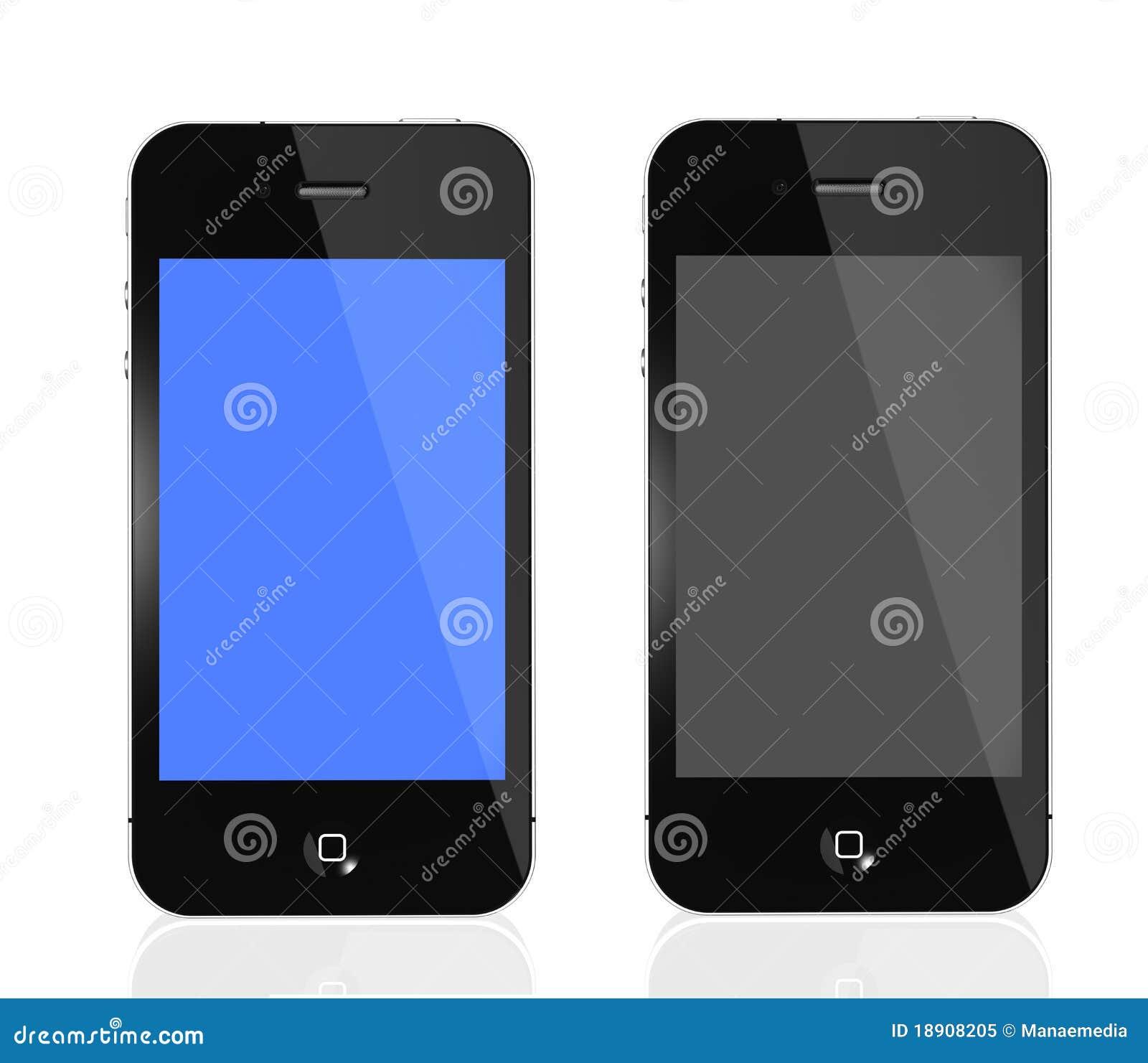 4s iphone czarny błękitny ekran