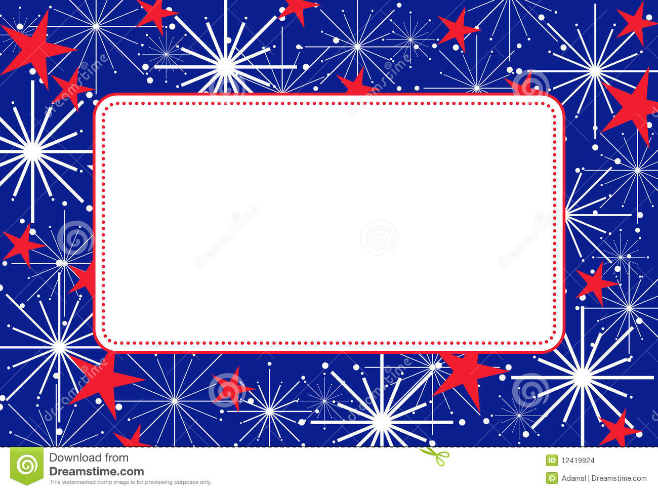 4th Of July Frame Stock Images - Image: 12419924