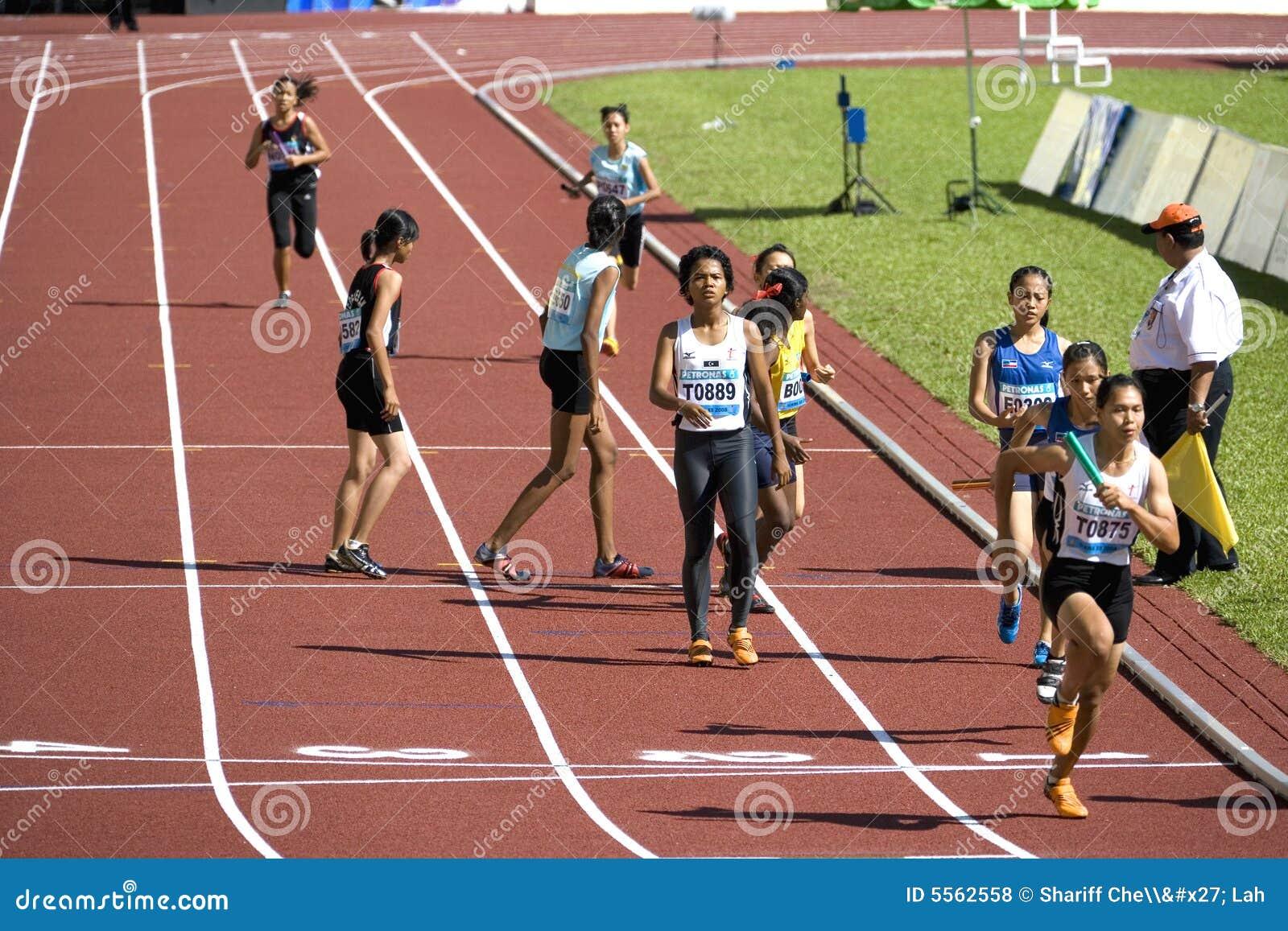 4x400 van vrouwen meet Race