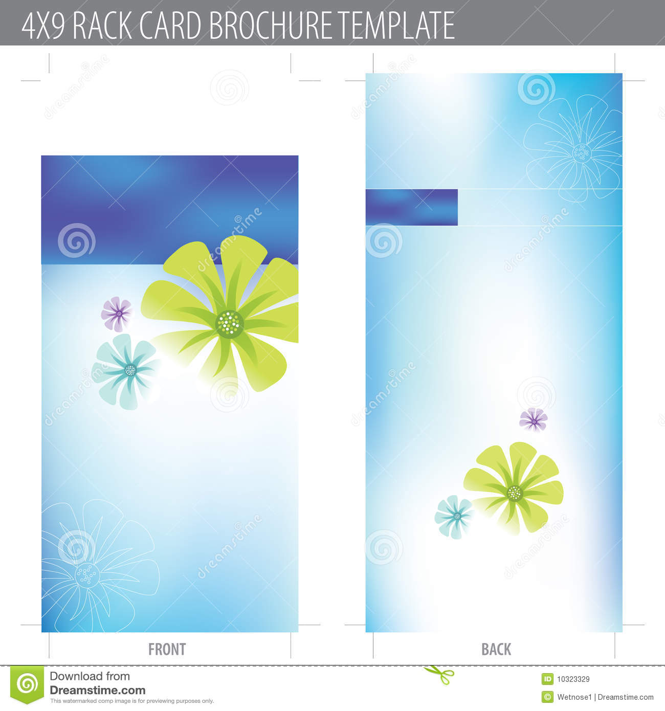 4x9 rack card brochure template stock vector image 10323329 for Brochure free templates
