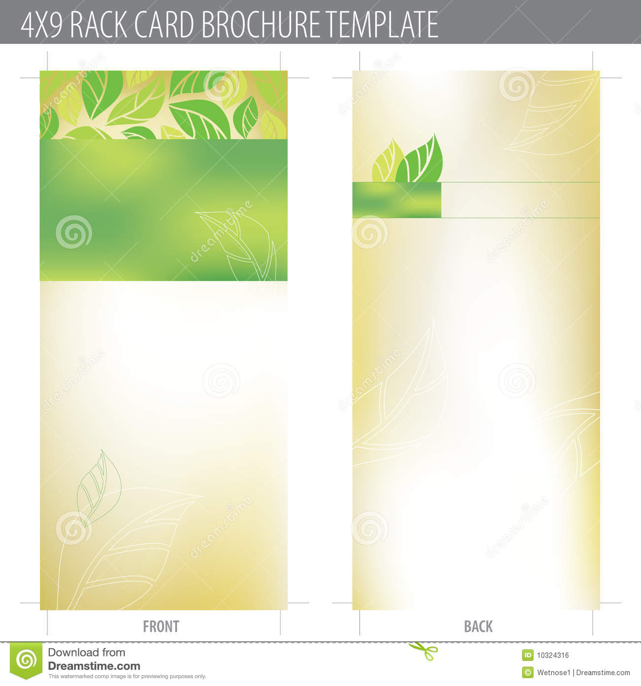 4x9 rack card brochure template stock vector image 10324316 for Brochure free templates