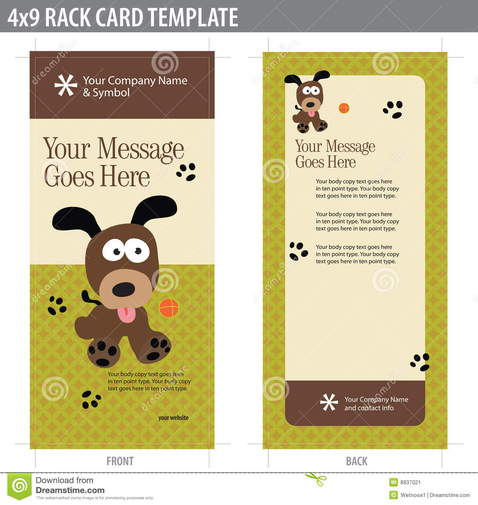 4x9 rack card brochure template stock image image 8937021. Black Bedroom Furniture Sets. Home Design Ideas
