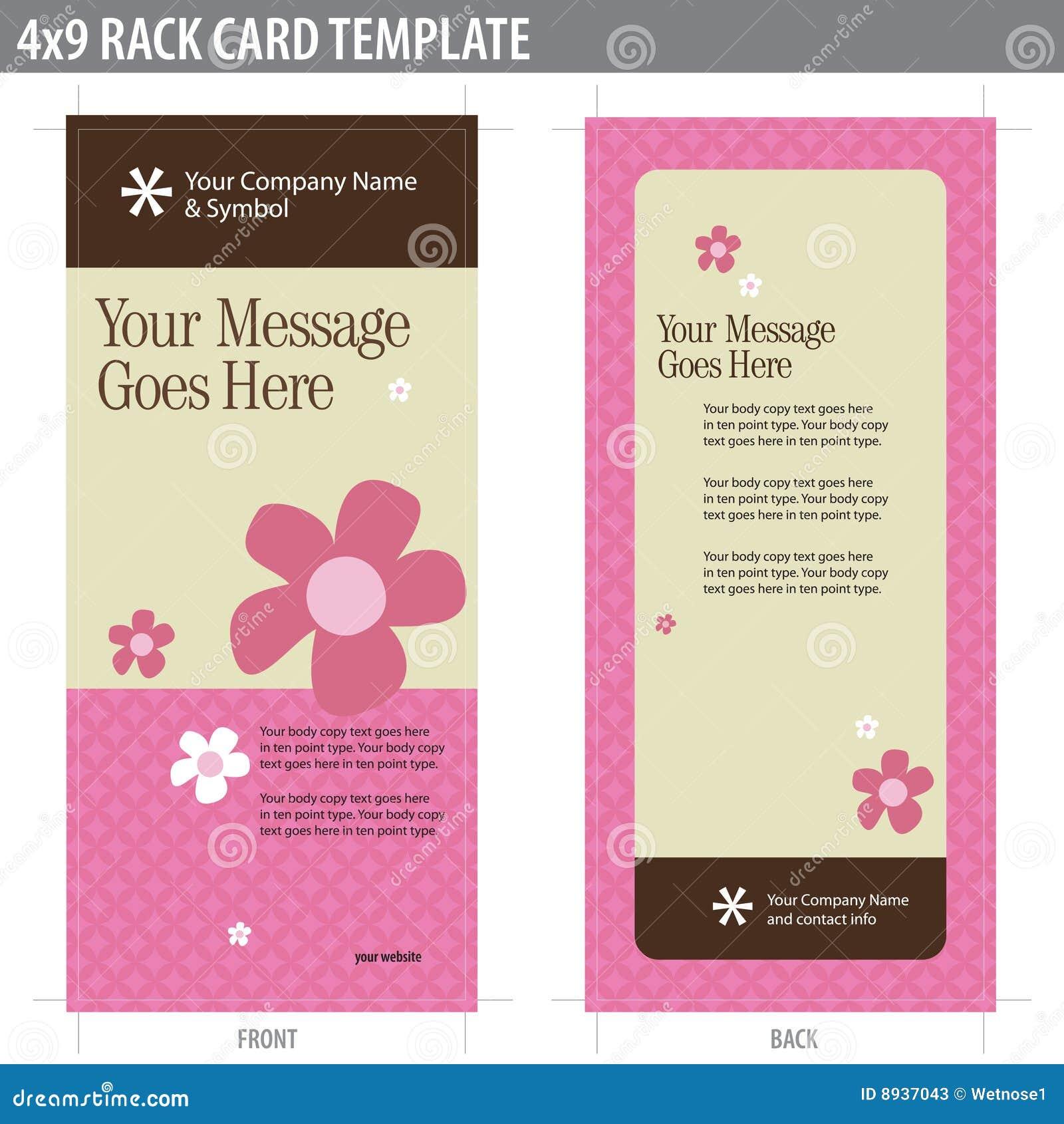 4x9 rack card brochure template stock photos image 8937043. Black Bedroom Furniture Sets. Home Design Ideas