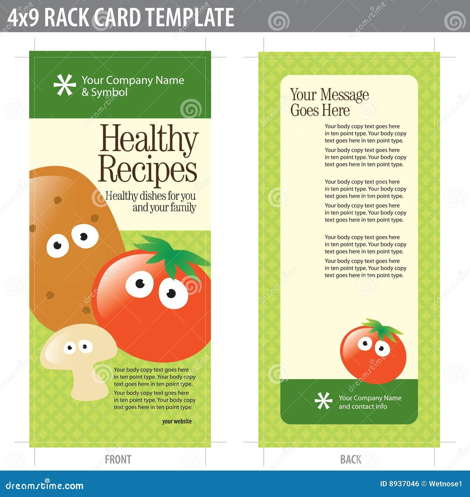 X Rack Card Brochure Template Stock Vector Illustration Of Flyer - Free rack card template