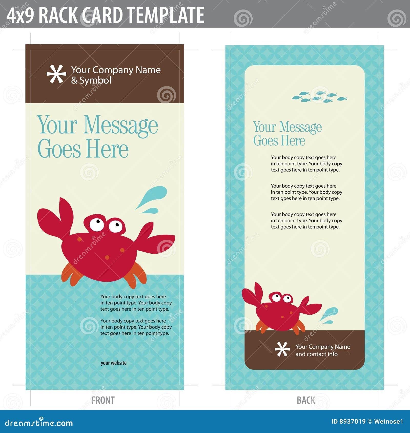 4x9 rack card broshure template royalty free stock images image 8937019. Black Bedroom Furniture Sets. Home Design Ideas