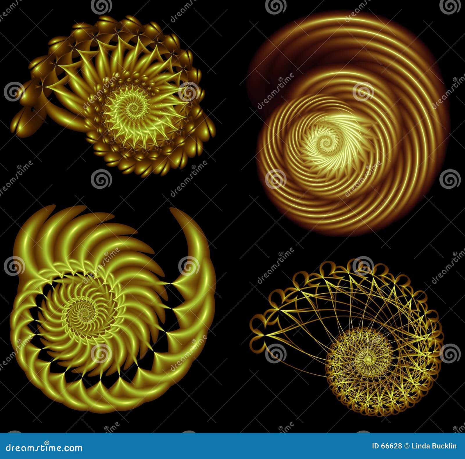 5 τέσσερις fractal σπείρες