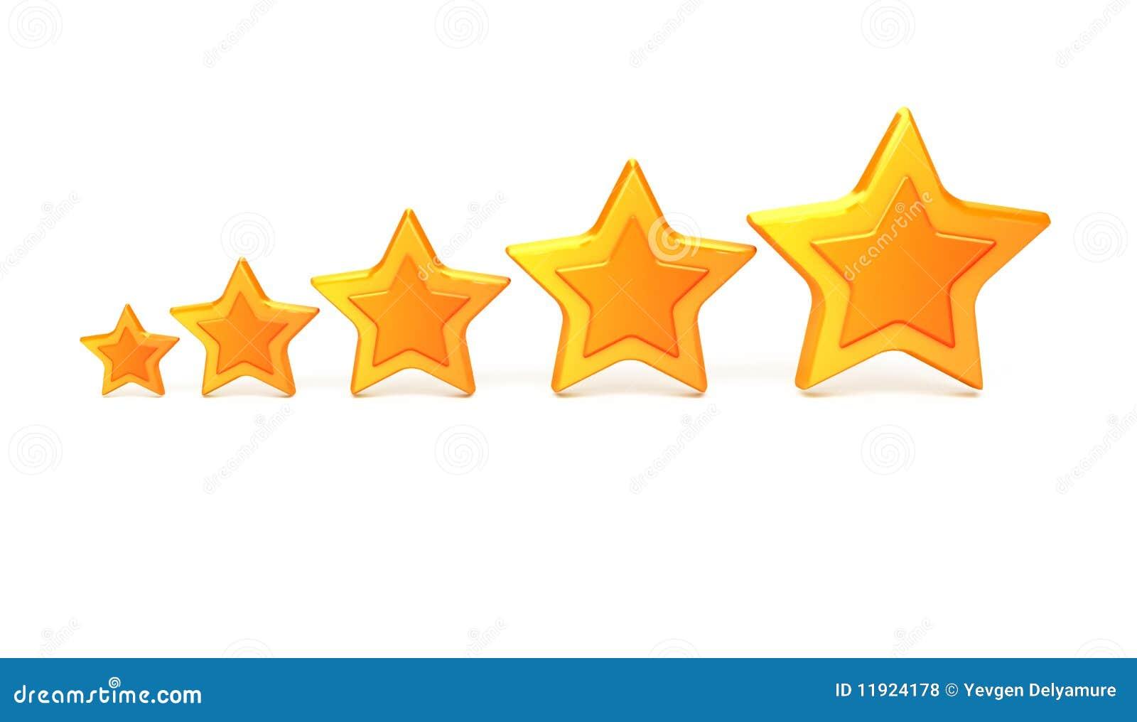 5 звезд номинальности золота