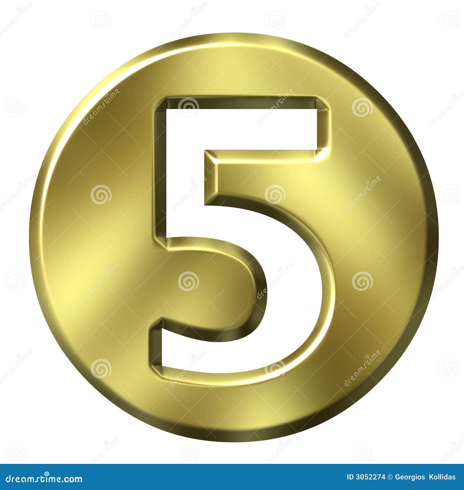 5 кадр золотистый номер