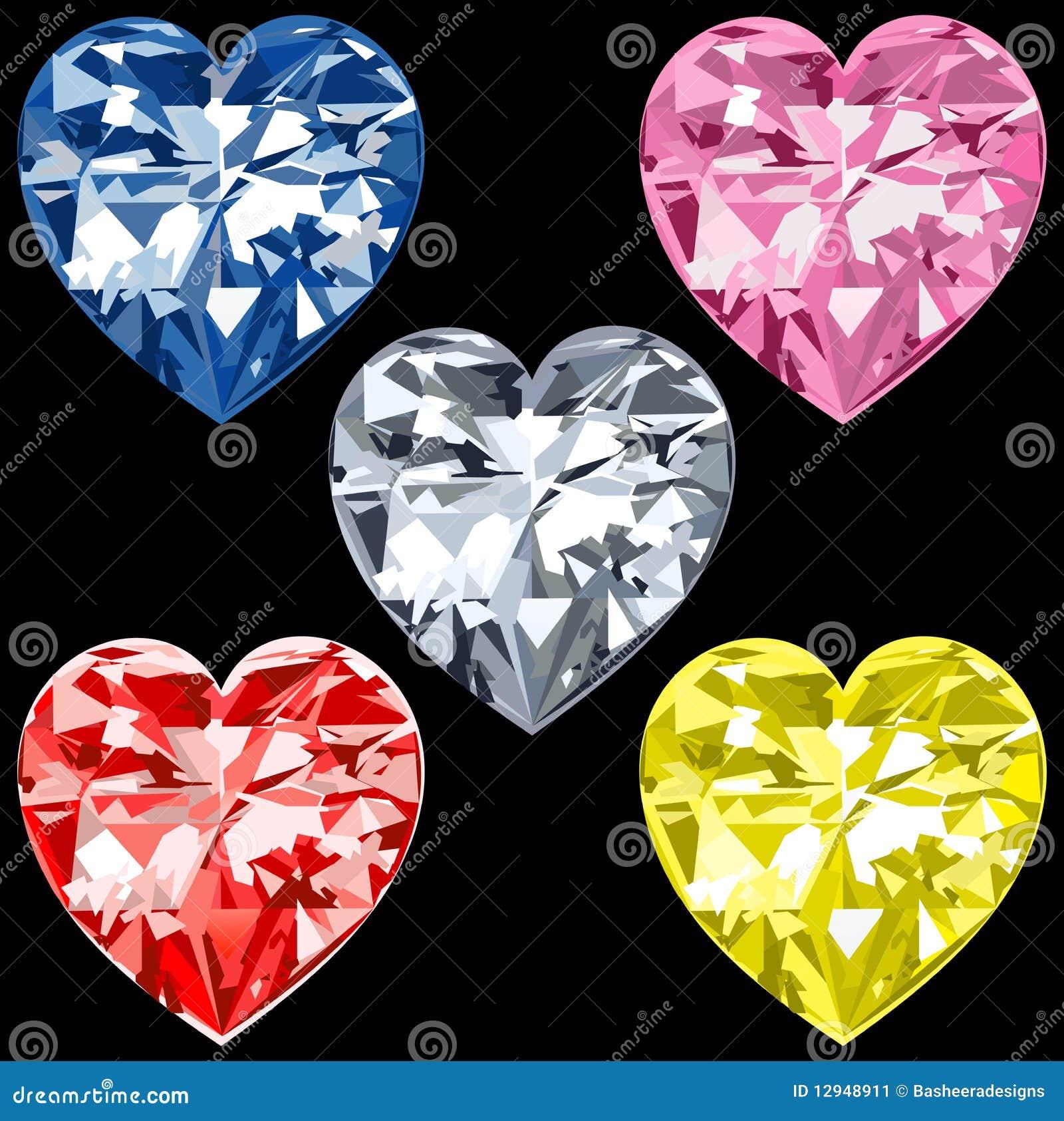 5 сердец диаманта
