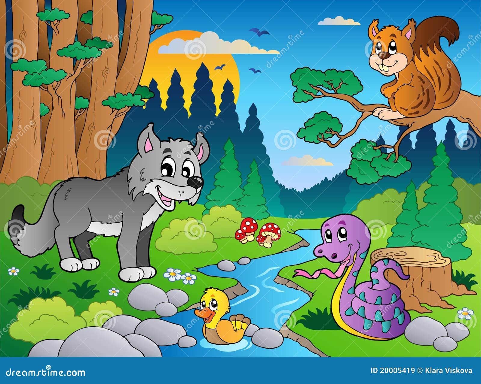 森林里的动物画画图片展示图片