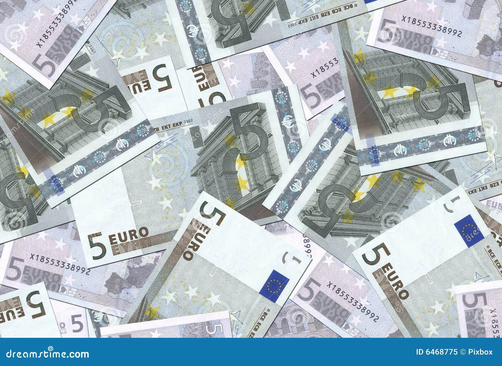 5 de euro Textuur van Nota s