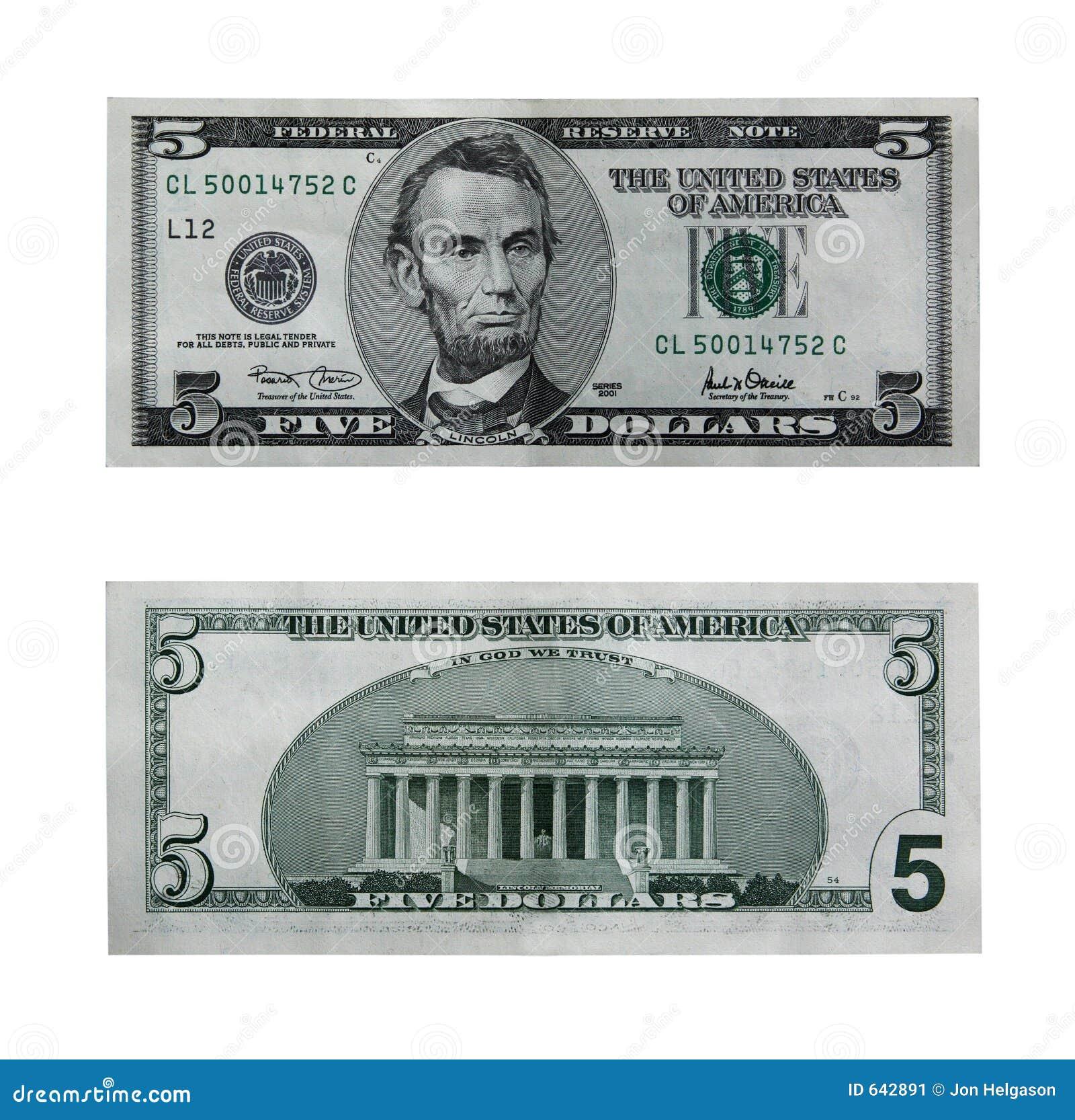 $ 5 droga rachunku