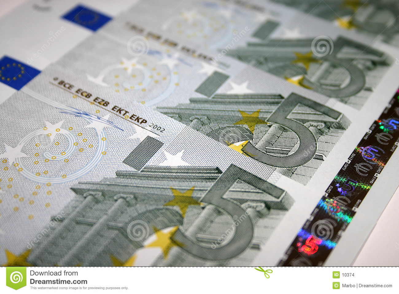 5 euro notes stock photo image of five paid eurozone 10374. Black Bedroom Furniture Sets. Home Design Ideas