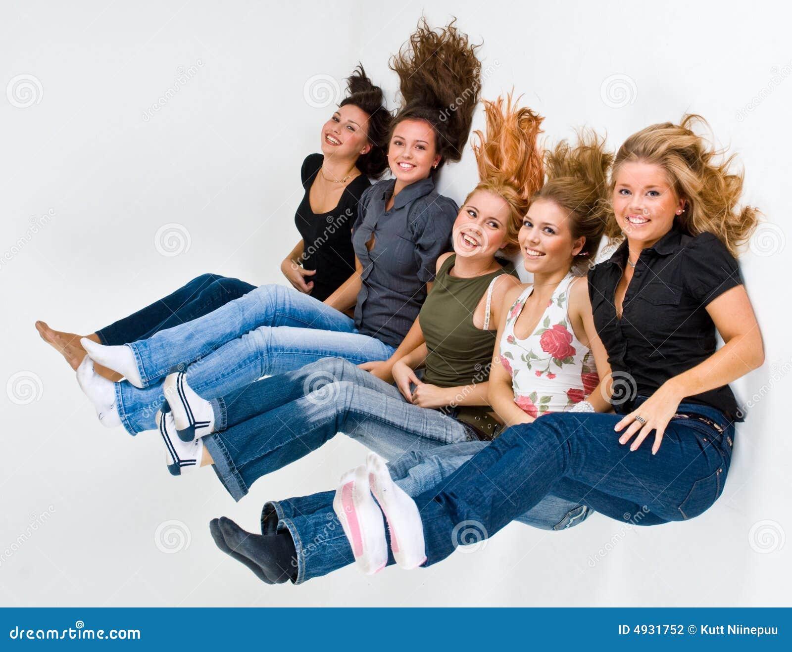 5 flottörhus lyckliga kvinnor