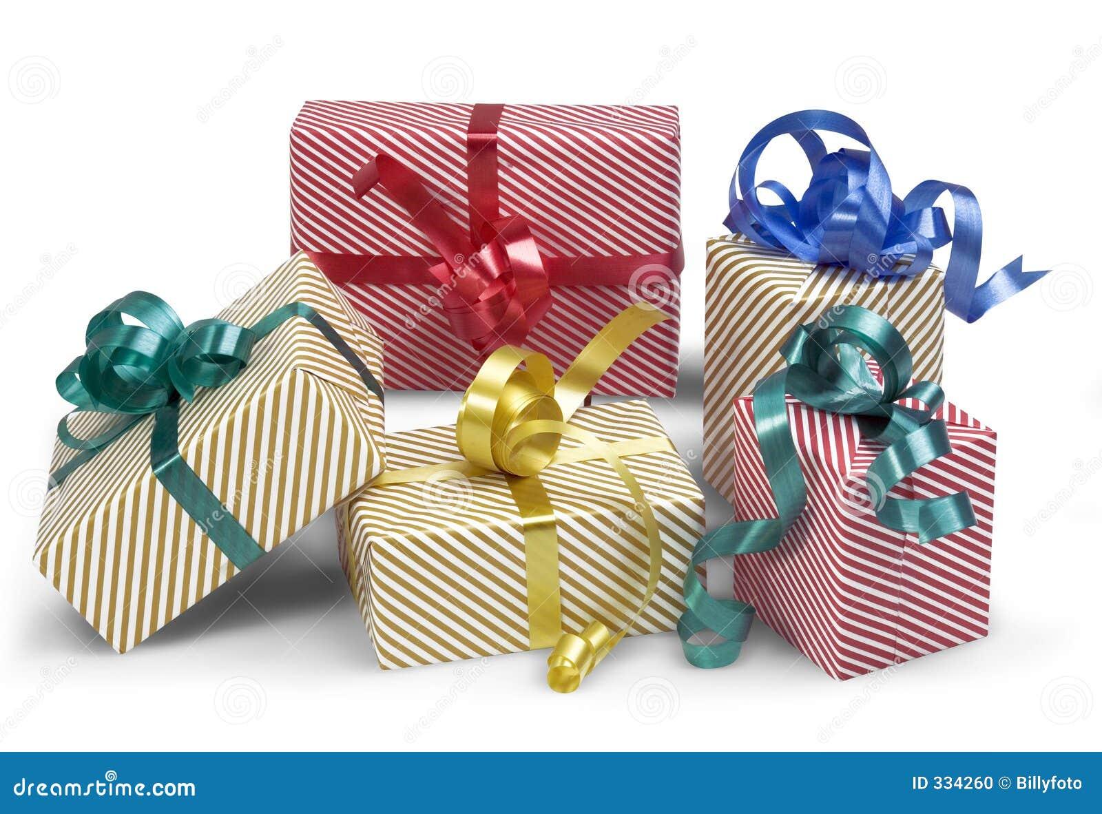 5 Geschenkkästen mit Schatten