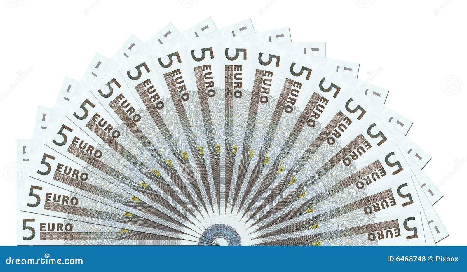 5 koło pół notatek szablon euro