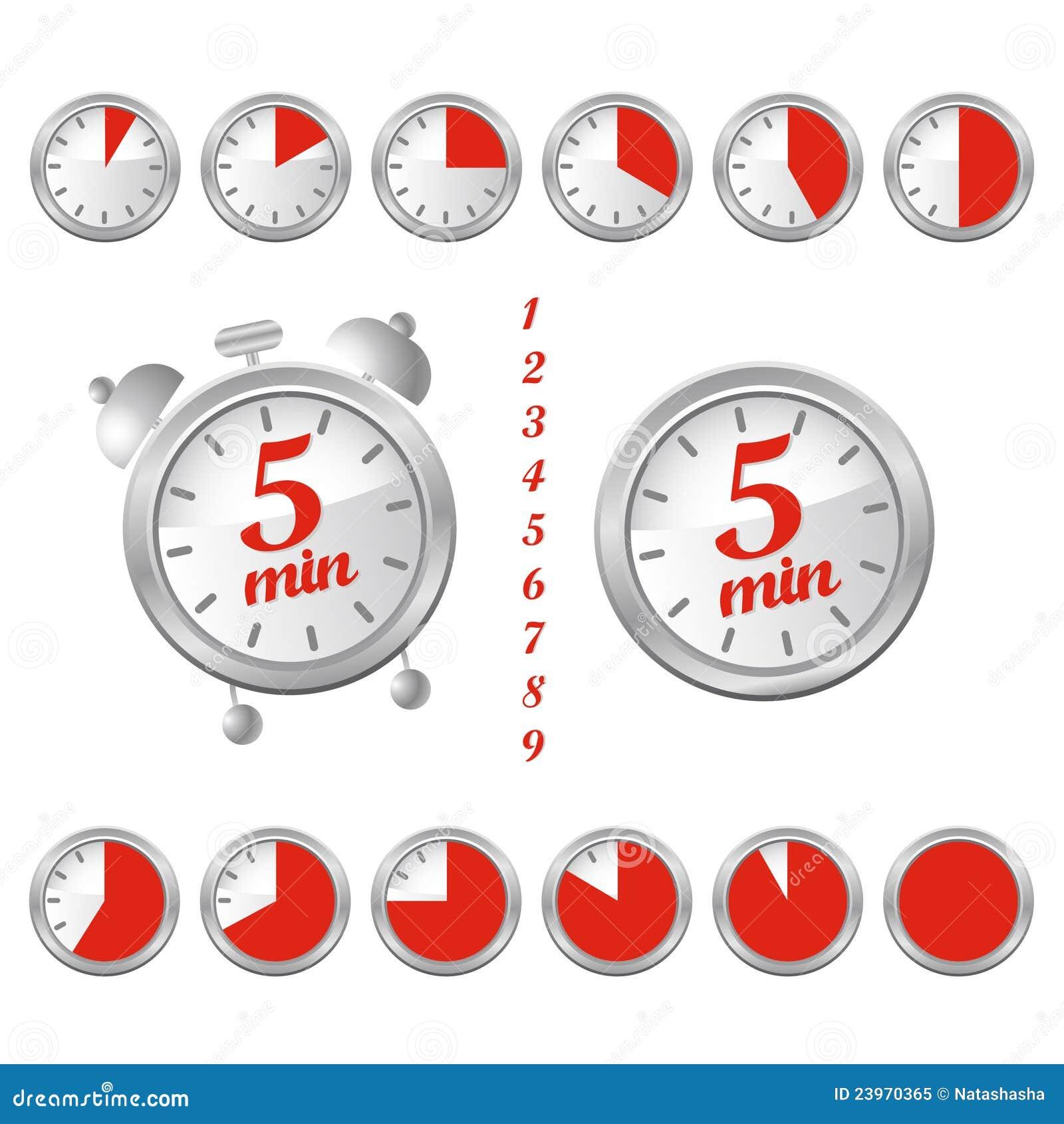 5 minute clock