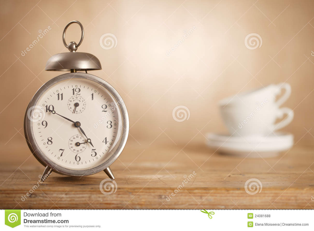 Royalty Free Stock Photos 5 O Clock Tea Time Retro Alarm White Tea Cups Image24081688 on alarm clock wallpaper