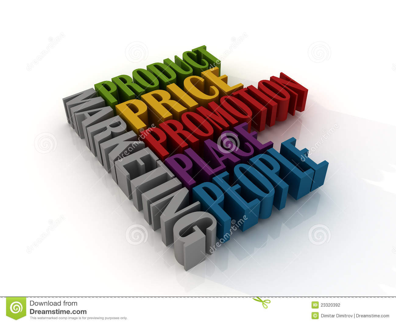 5 P'S Of Marketing Stock Photography - Image: 23320392