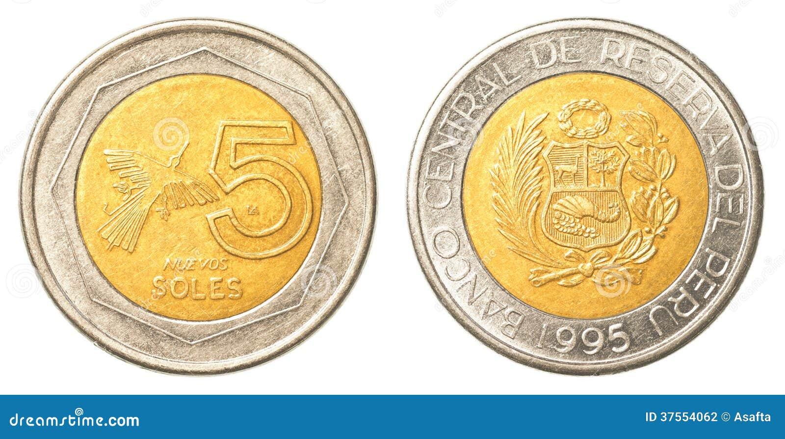 Peruvian Nuevo Sol Coin Stock Photography - Image: 37554062