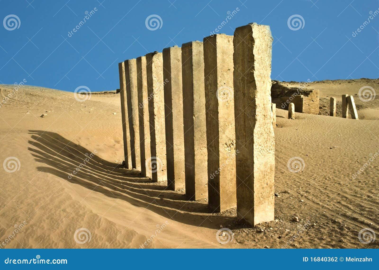 Desert Rock Pillars : Pillars of moon temple in desert stock photo image
