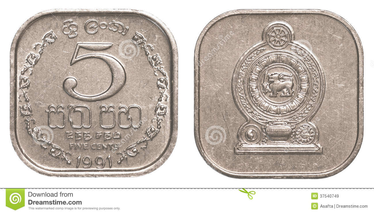 5 Sri Lankan Rupee Cents Coin Stock Image Image Of Payment Asia 37540749