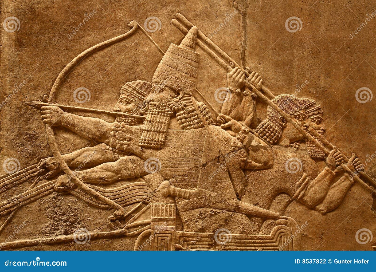 5 sztuki acient assyrian