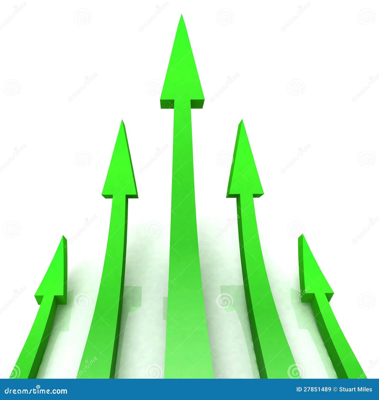 5 Zielony Strzała Przedstawienie Postępu Cel