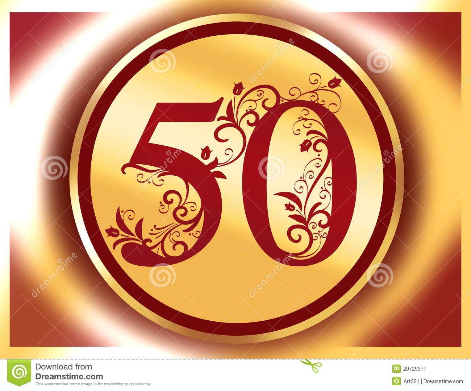 50 Anniversario Giubileo Buon Compleanno Illustrazione Di Stock