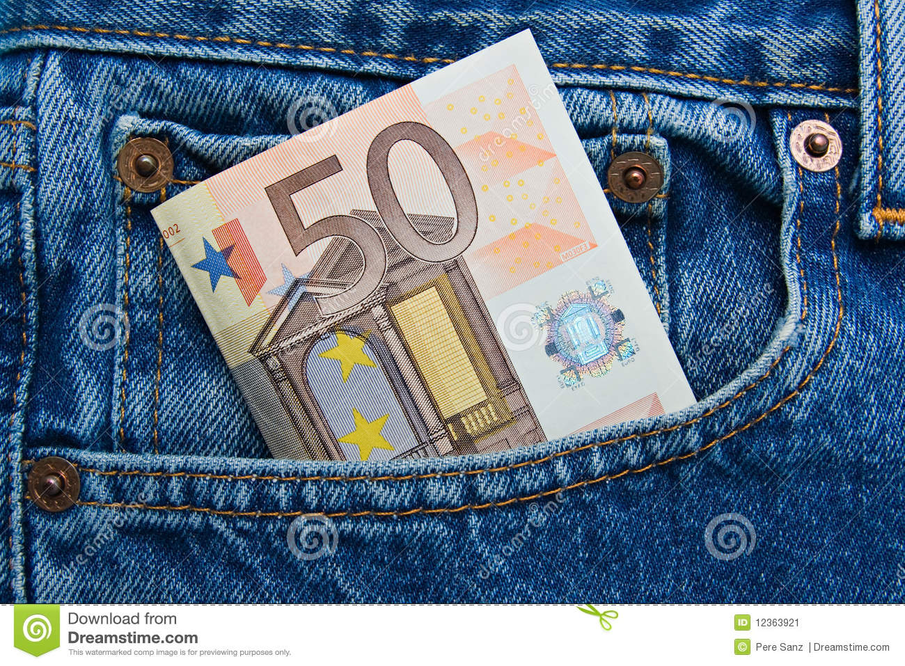 50 euro note in a blue jeans pocket stock image image of clothes jeans 12363921. Black Bedroom Furniture Sets. Home Design Ideas