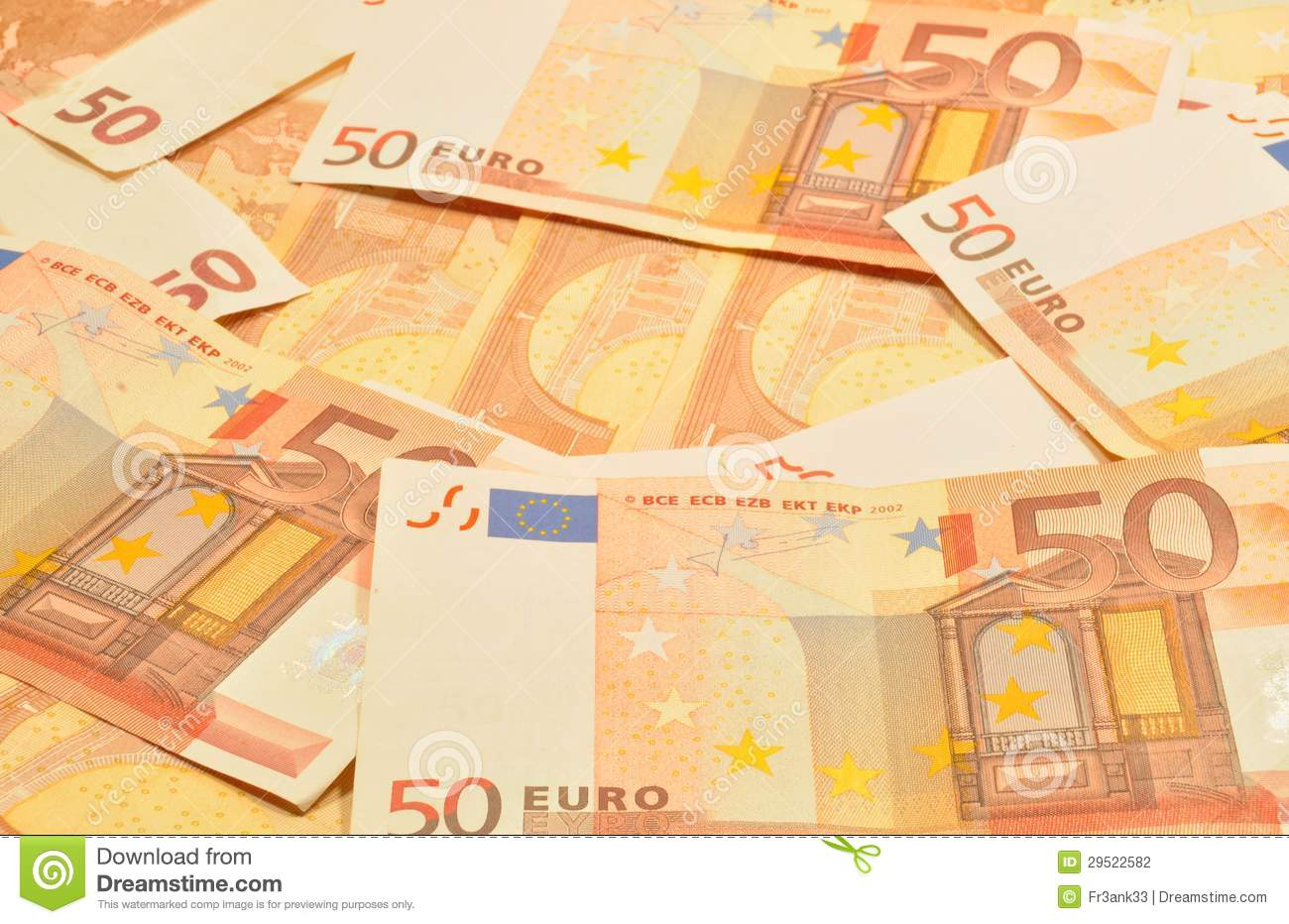 50 euro notes stock photography