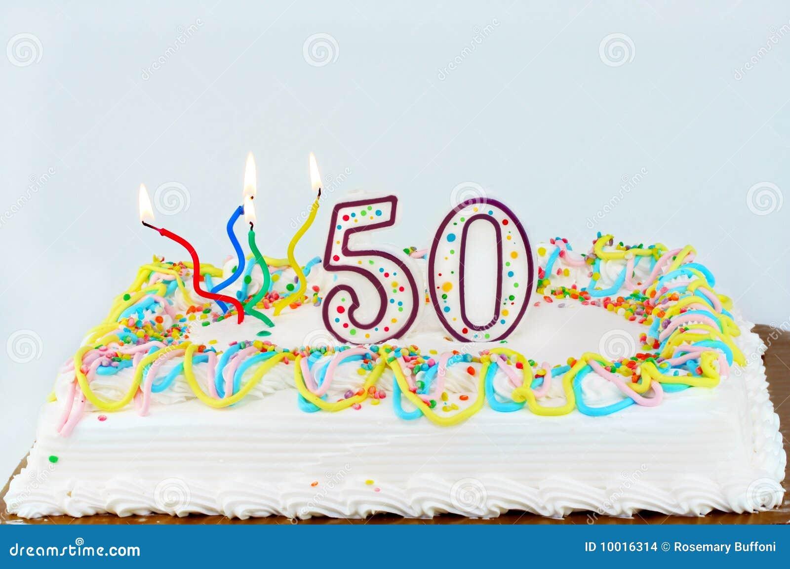 50 Geburtstag Kuchen Stockfoto Bild Von Nachtisch