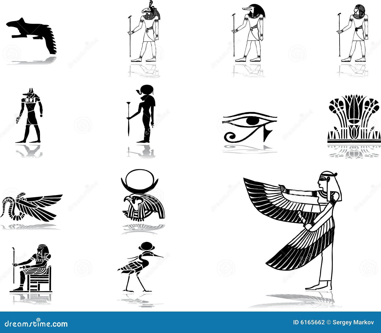 50 inställda egypt symboler