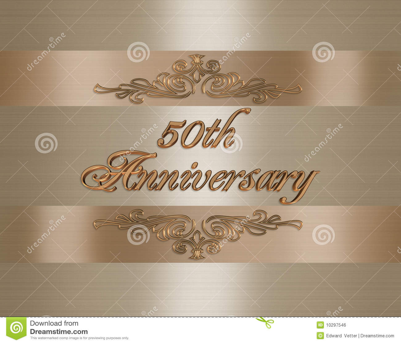 50 A Invitación Del Aniversario De Boda De Oro Stock De