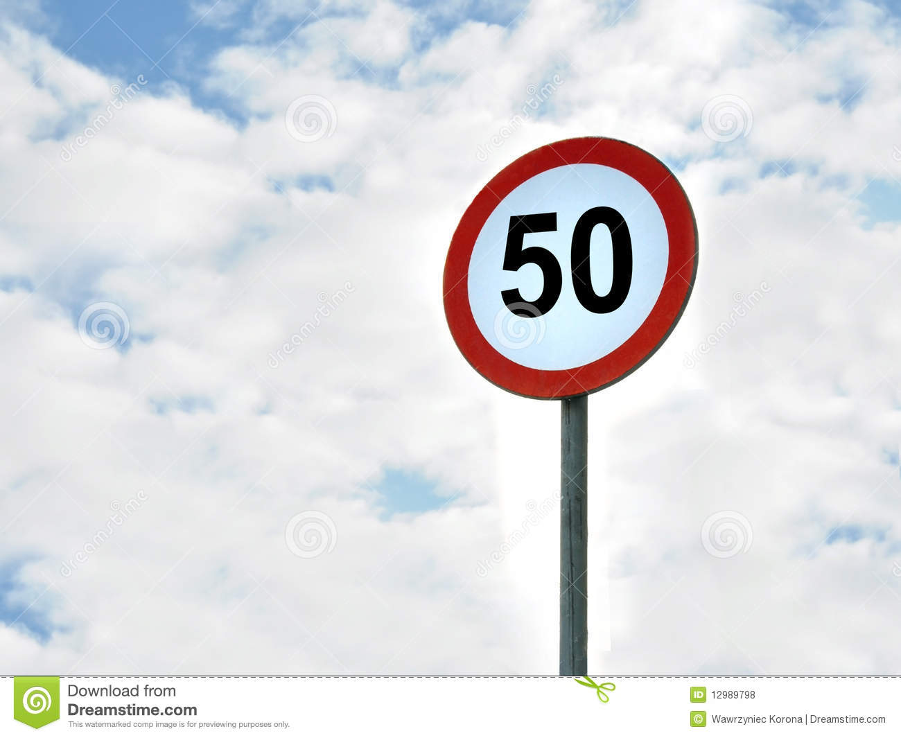 50 Kmh Speed Limit Area Royalty Free Stock Photos  Image