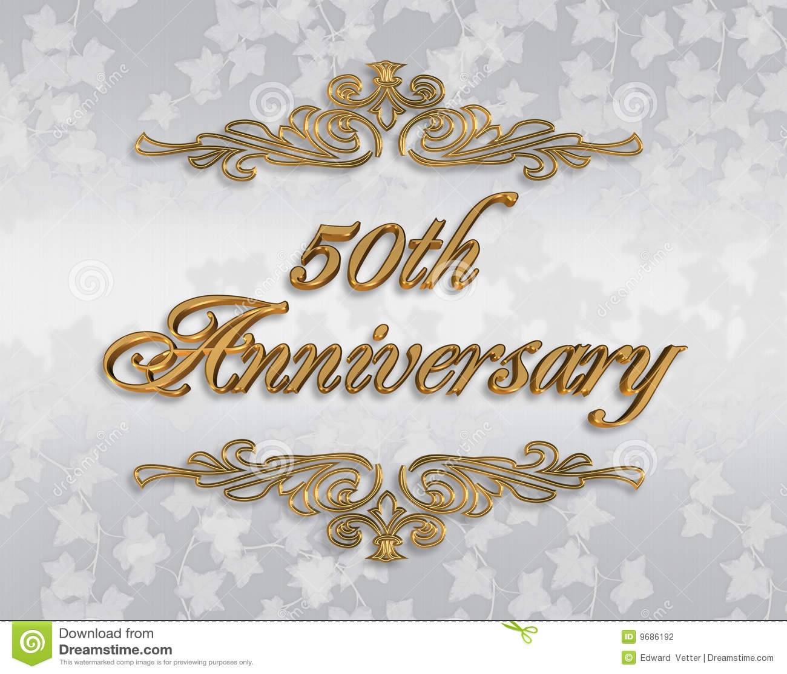 50 O Invitaci 243 N Del Aniversario De Boda Stock De