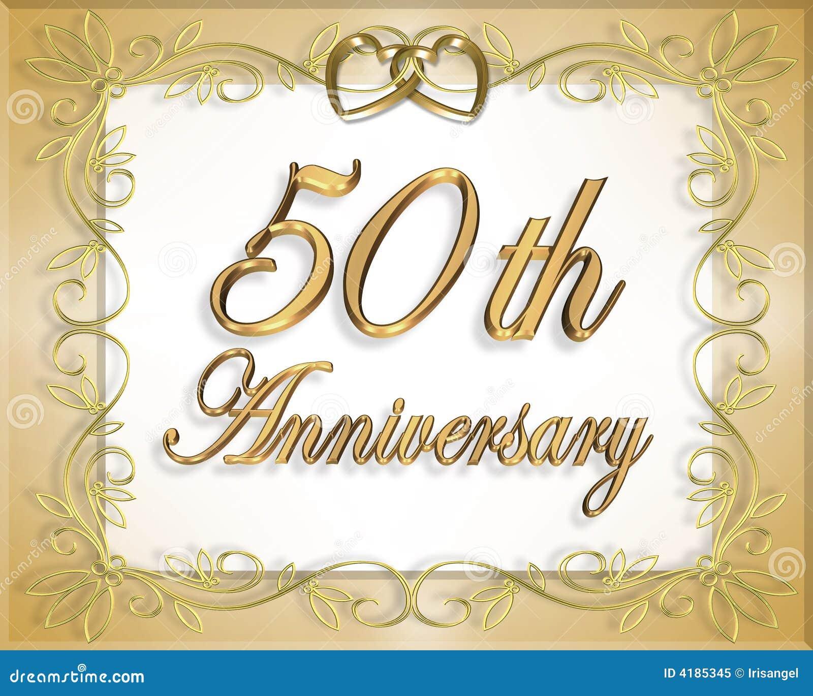 50 O Tarjeta Del Aniversario De Boda Stock De Ilustración